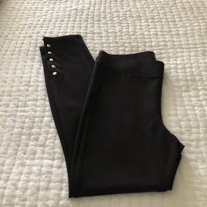 WHBM Black Legging with Button Detailing Sz M